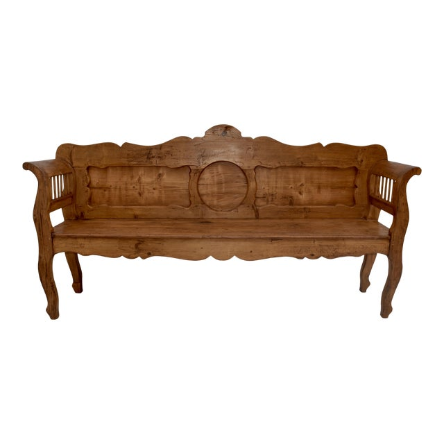 Pine and Oak Bench or Settle For Sale