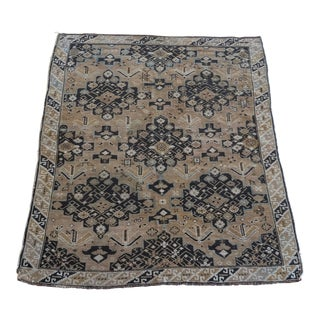 Neutral Antique Caucasian Rug For Sale