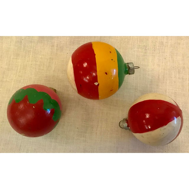 Vintage Glass Holiday Ornaments - Set of 3 For Sale - Image 4 of 7