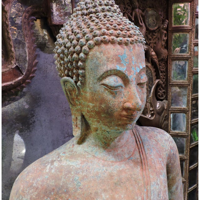 Asian Cast Bronze Sukhothai Buddha For Sale - Image 3 of 7