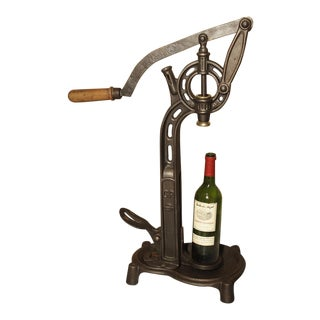 Antique Cast Iron Wine Corking Machine from France, Circa 1900