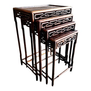Chinese Rosewood Nesting or Quartteto Tables - Set of 4 For Sale