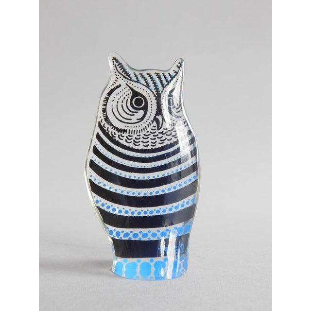 Vintage Abraham Palatnik Op Art Lucite Owl For Sale - Image 5 of 7