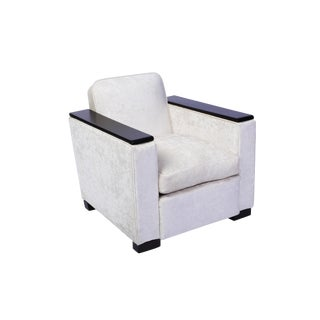 Jacques Adnet Club / Armchair For Sale