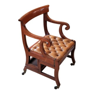 Circa 1815 Folding Library Steps / Metamorphic Chair For Sale