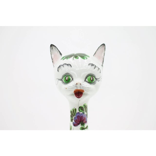 Beautiful ceramic cat, Italy, 1970s. Very good condition. Worldwide shipping.