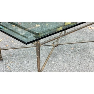 Fine Stippled Wrought Iron with Beveled Glass Top Kreiss Designs Coffee Table C191990s Preview
