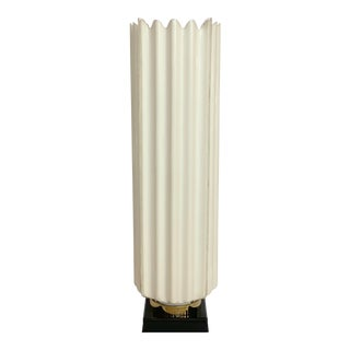 1970s Rougier White Fluted Acrylic Table Lamp For Sale