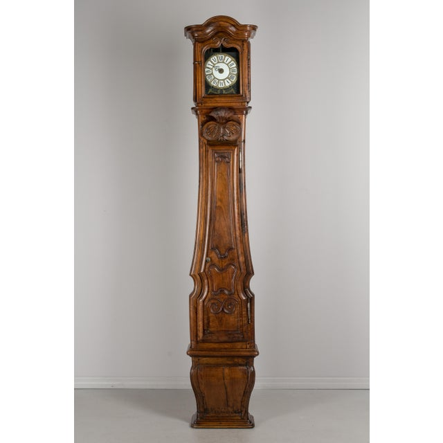 French 18th Century French Tall Case Clock or Horloge De Parquet For Sale - Image 3 of 13