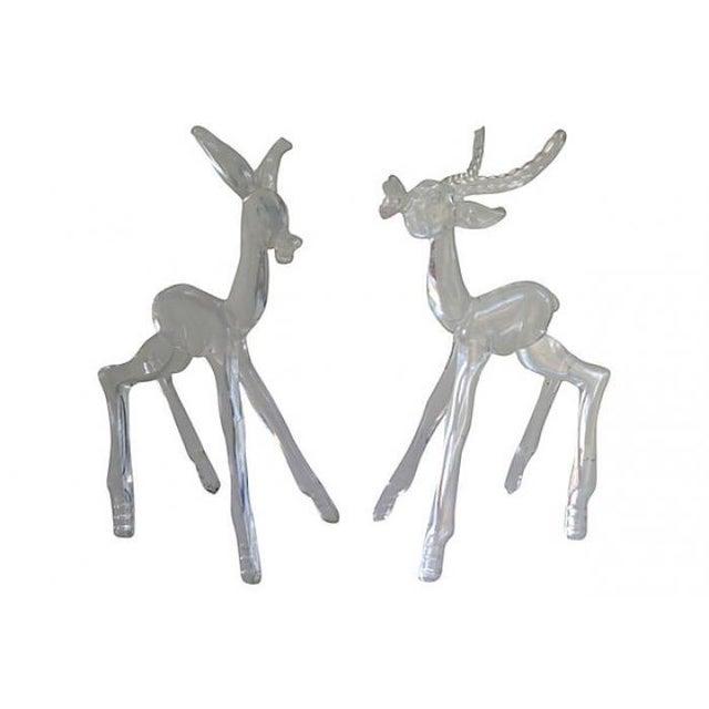 Midcentury Lucite Deer - Pair - Image 4 of 4
