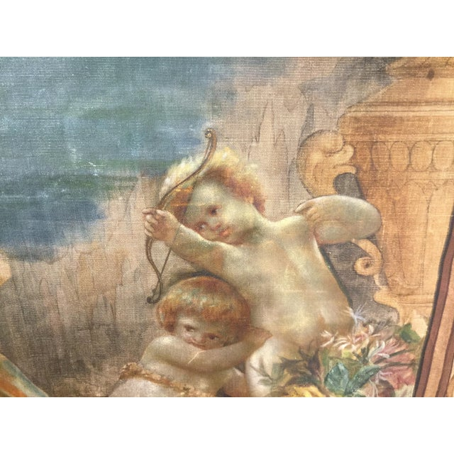 19th Century French Aubusson Tapestry Cartoon For Sale - Image 12 of 13