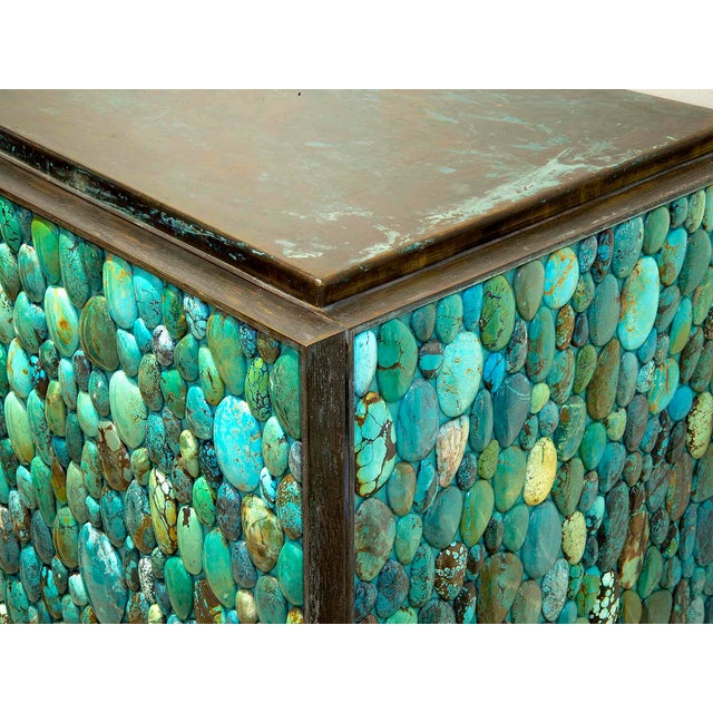 2010s Kam Tin - Sideboard Covered With Real Turquoise Cabochons, France, 2013 For Sale - Image 5 of 10