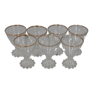 Midcentury Cocktail Glasses S/7 For Sale