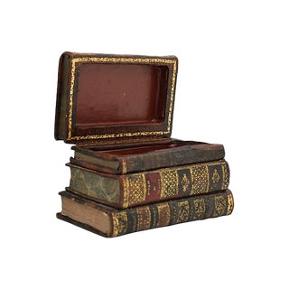 Antique French Book Safe For Sale