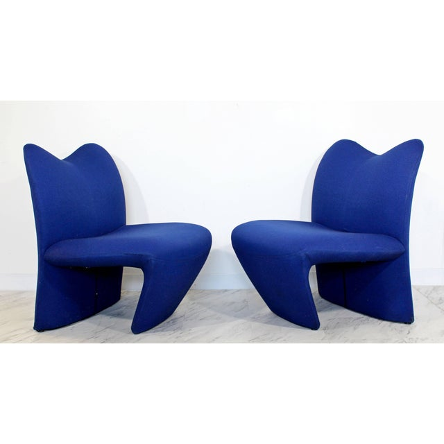 Mid-Century Modern Mid-Century Modern Pair of Sculpted Accent Chairs Paulin Panton Style Italian For Sale - Image 3 of 9