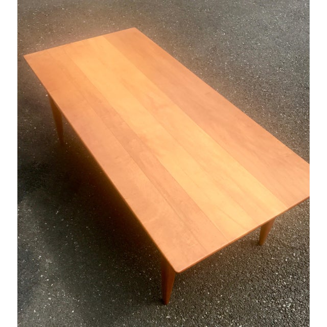 Mid-Century Two Level Maple Coffee Table For Sale - Image 4 of 8