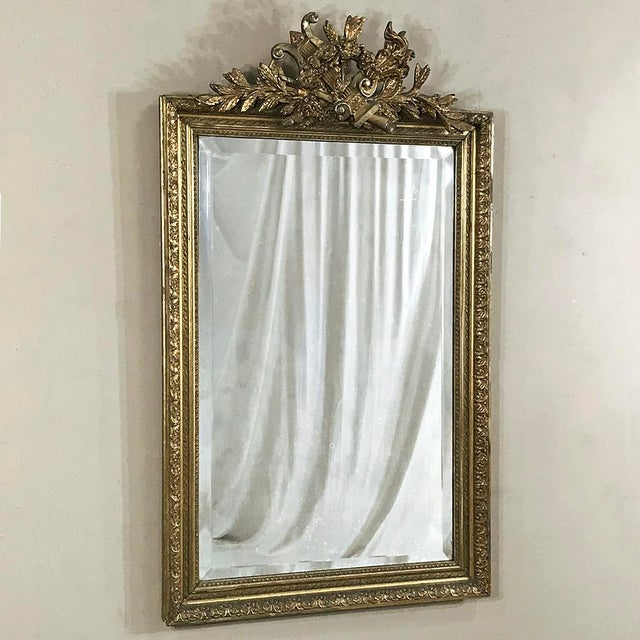 French 19th Century French Louis XVI Gilded Mirror For Sale - Image 3 of 12