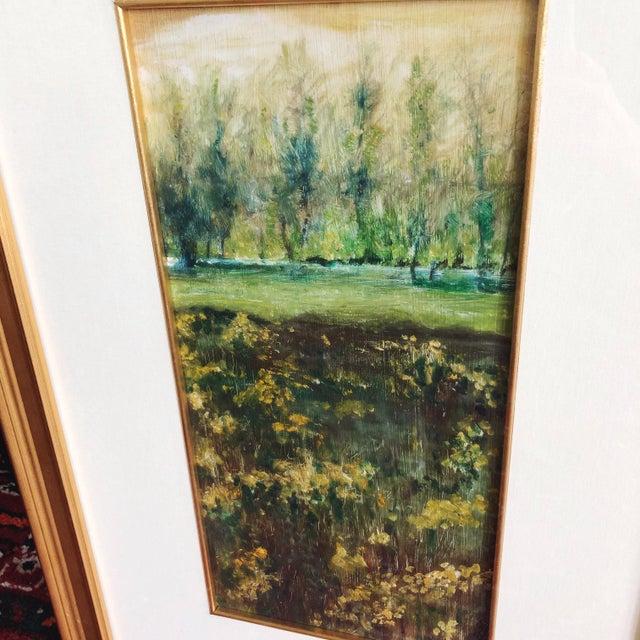 Impressionist Vintage Impressionist Landscape Oil Painting For Sale - Image 3 of 9