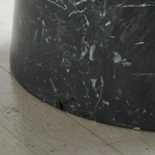 Black Nero Marquina Marble Dining Table With Glass Top by Angelo Mangiarotti For Sale - Image 8 of 9