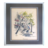 Image of Montmatre French Watercolor Print by John Haymson For Sale