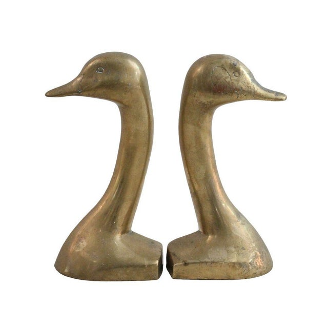 Mid-Century Brass Duck Bookends - A Pair - Image 1 of 2