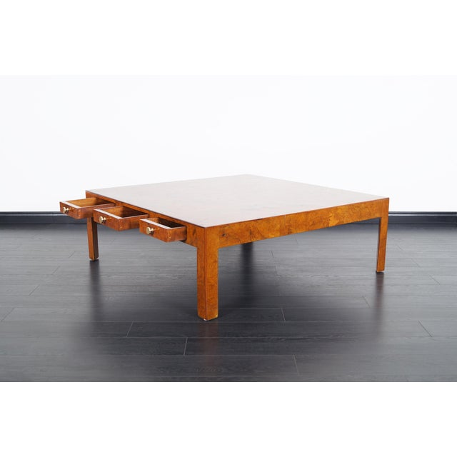 Vintage Italian Burl Wood Coffee Table by Cannell & Chaffin For Sale - Image 4 of 8