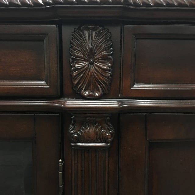 Bellagio Brown Cherry Finish Server Buffet Cabinet - Image 6 of 11