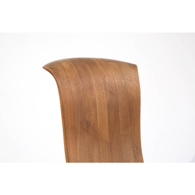 1980s Solid Walnut Studio Crafted Rocking Chair For Sale - Image 4 of 7