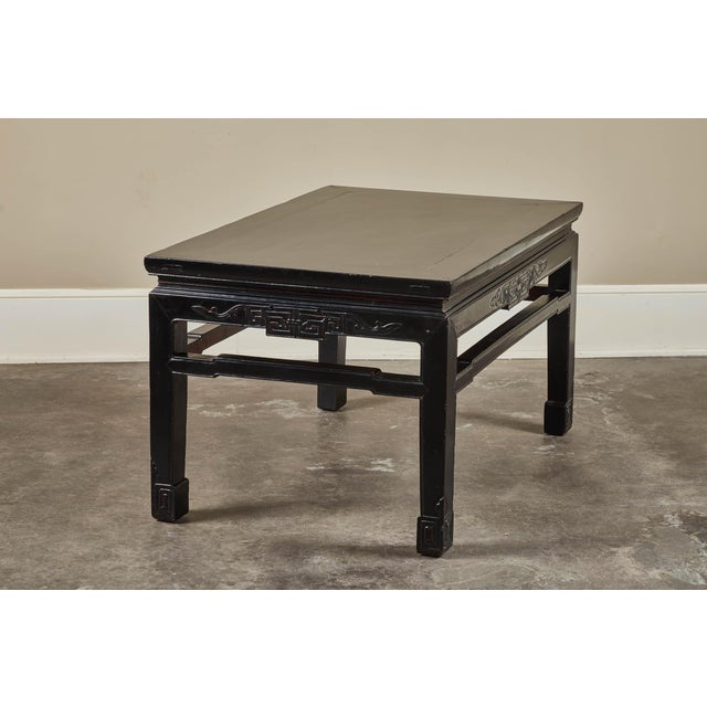 Asian 18th C. Low Black Lacquer Kang Table For Sale - Image 3 of 8