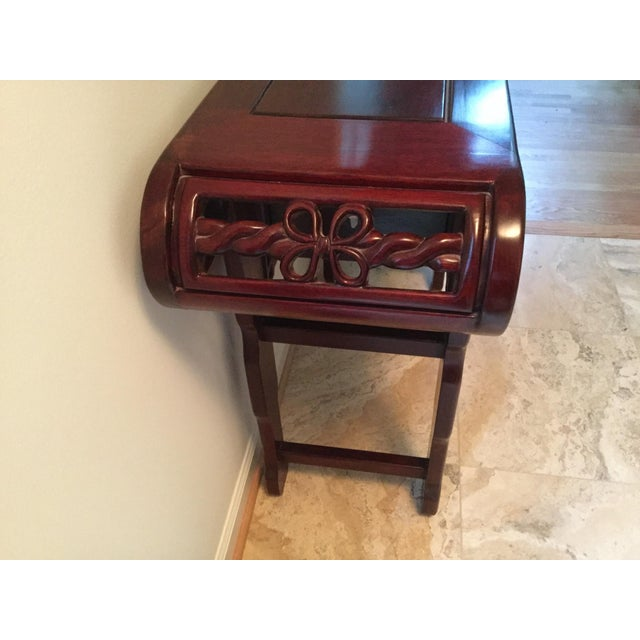 Solid Rosewood Console Table - Image 6 of 6