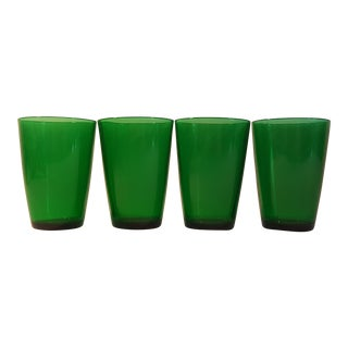 Anchor Hocking Forest Green 9 Oz Flat Tapered Tumbler, Set of 4