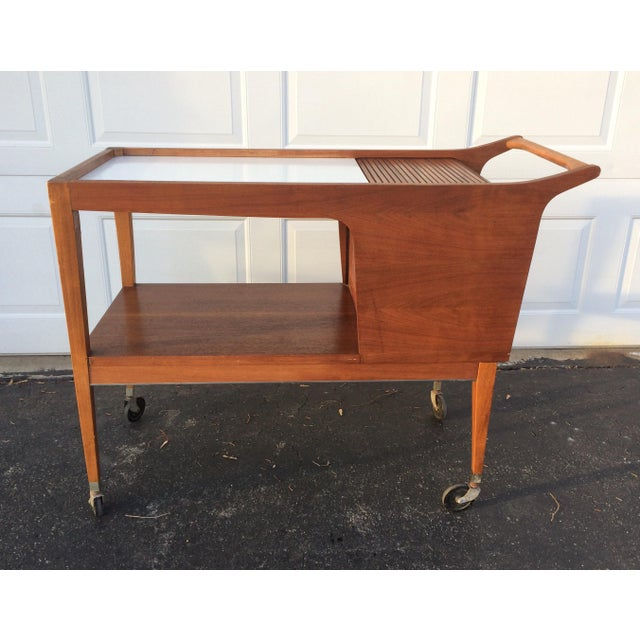 Mid-Century Modern Bar Cart - Image 4 of 9