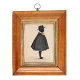 Image of American Silhouette of a Young Man, Framed For Sale