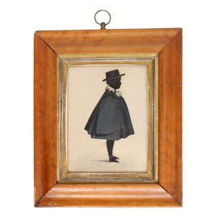 American Silhouette of a Young Man, Framed For Sale