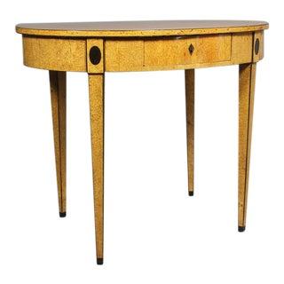 Biedermeier Karelian Birch Center Table For Sale