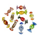 Image of Vintage Murano Glass Candies - Set of 10 For Sale