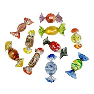 Vintage Murano Glass Candies - Set of 10 For Sale