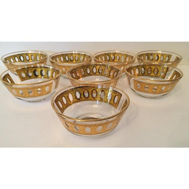 Culver Antigua 22k Gold Dessert Bowls - Set of 8 - Image 6 of 9