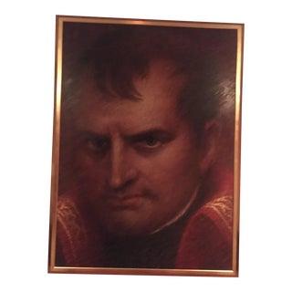 Monumental Oil on Canvas Portrait of Napolian in Gilt Wood Frame Artist Dan Piel For Sale