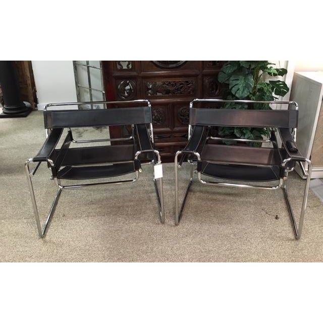 Pair Marcel Breuer Wassily Chairs For Sale - Image 9 of 9