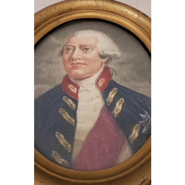 Early 19th Century Hand Colored Miniature Portrait Engraving of King George III C.1804 For Sale - Image 4 of 7