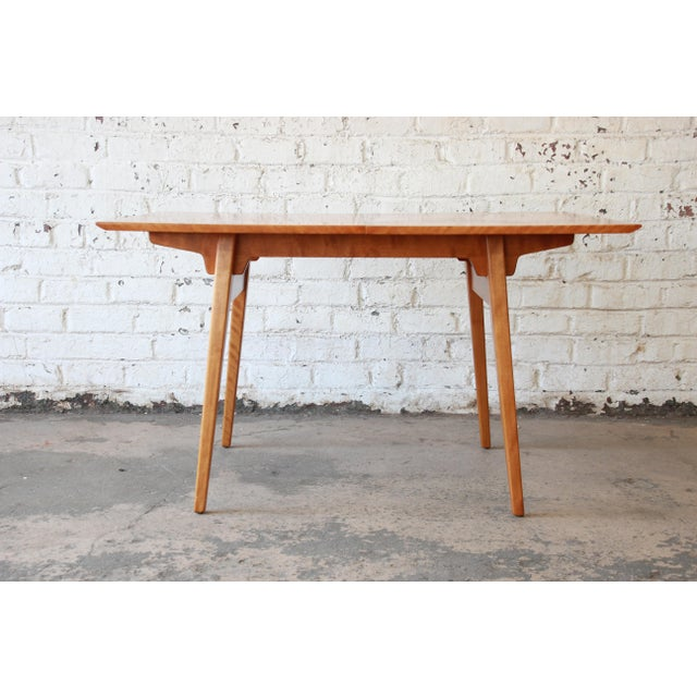 Brown Jens Risom Mid-Century Modern Maple Dining Table For Sale - Image 8 of 11