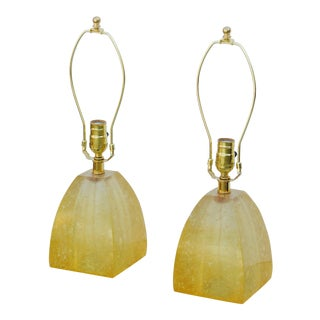 1960s Fractal Resin Mantel Lamps - a Pair For Sale