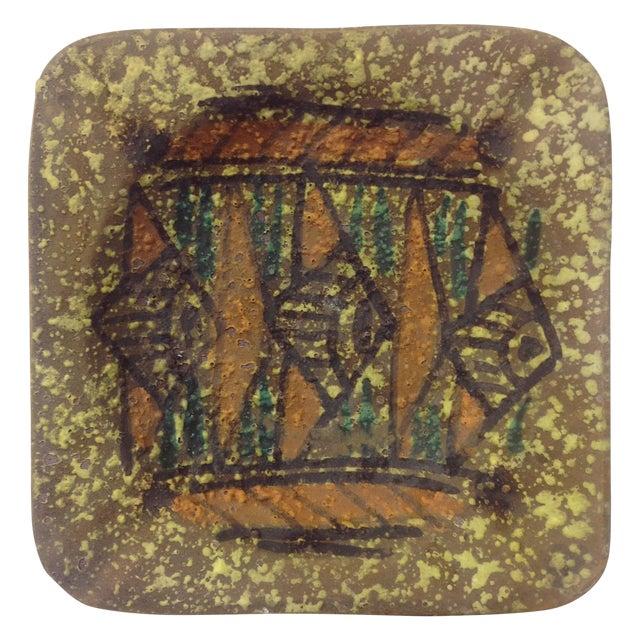 Gamboni Style Fish Design Ceramic Tray For Sale