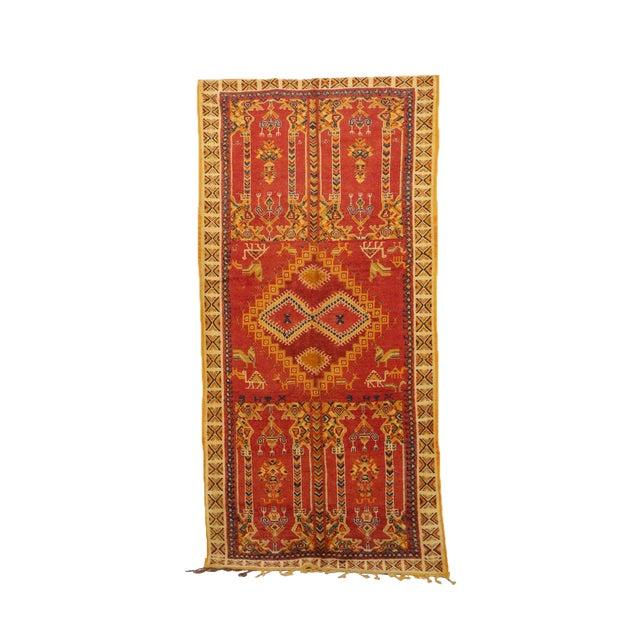 "Taznakht Moroccan Rug, 5'3"" X 10'5"" Feet For Sale"
