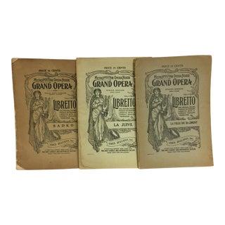 Metropolitan Grand Opera Libretti - Set of 3 For Sale