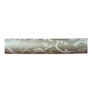 Stark Wall Paper in Matte Gold Chinoiserie Pattern - 1 Roll For Sale