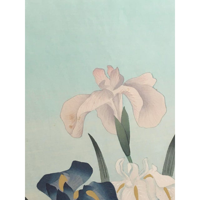 """1949 """"Iris"""" Woodblock Print by Bakufu Ohno, Framed For Sale In Columbia, SC - Image 6 of 10"""