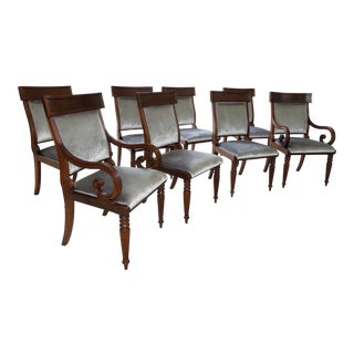 Hickory Chair Company Regency Dining Chairs- Set of 8 For Sale