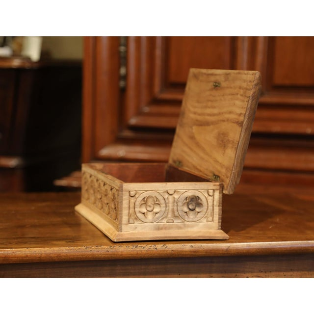 Early 20th Century French Carved Chestnut Box From Brittany Signed E. Bayon For Sale In Dallas - Image 6 of 10